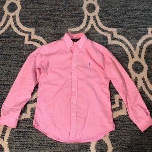 Pink Ralph Lauren Long Sleeve Button Up